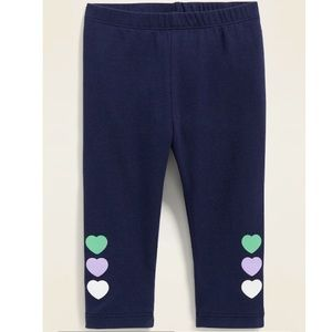 OLD NAVY Graphic Jersey Leggings for Baby in Navy